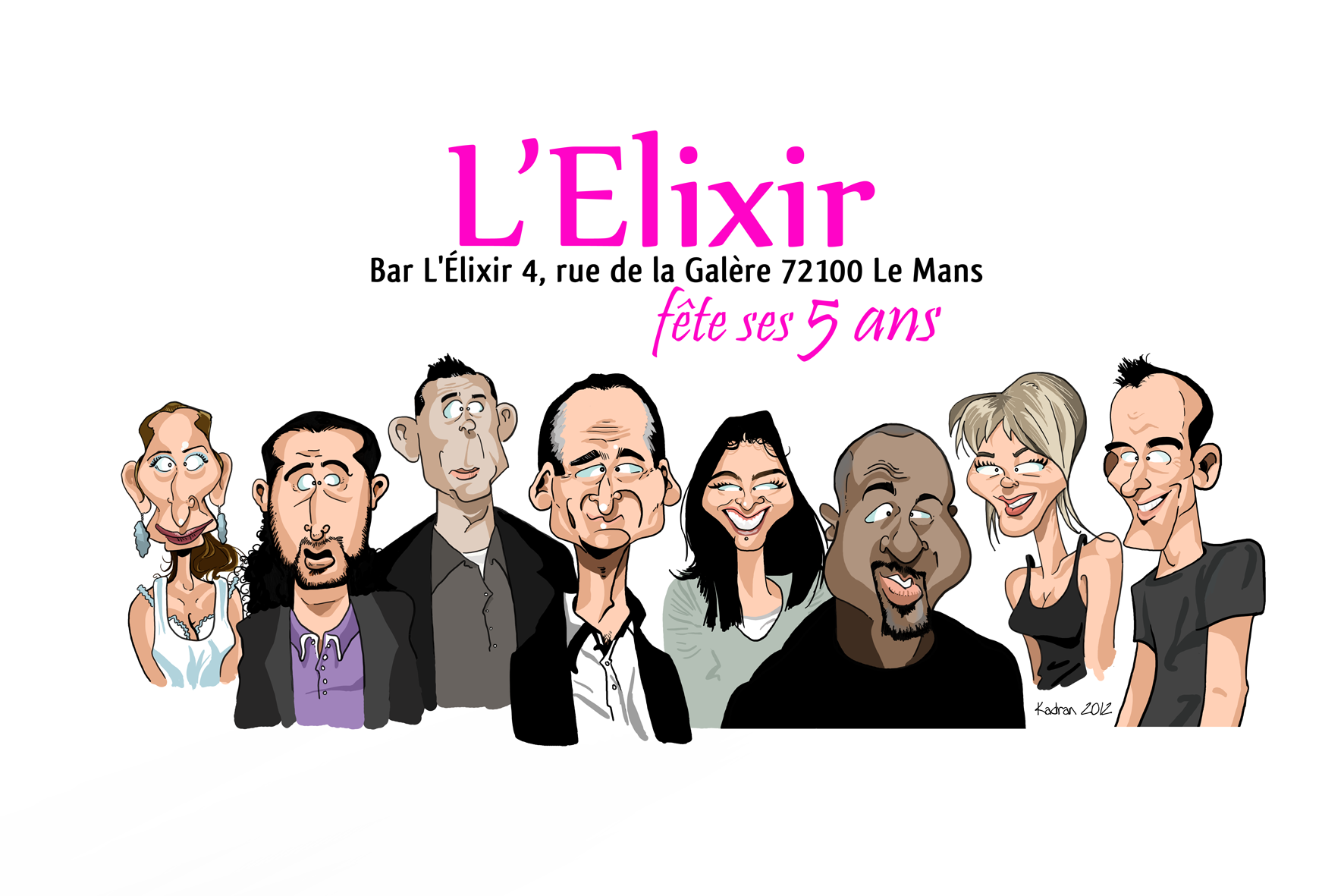 Caricature de l'équipe de L'Elixir