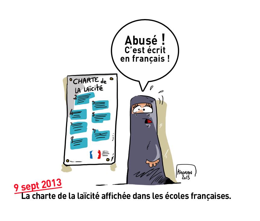 La charte de la la cit affich e dans les coles fran aises - La loi sur le port du voile en france ...