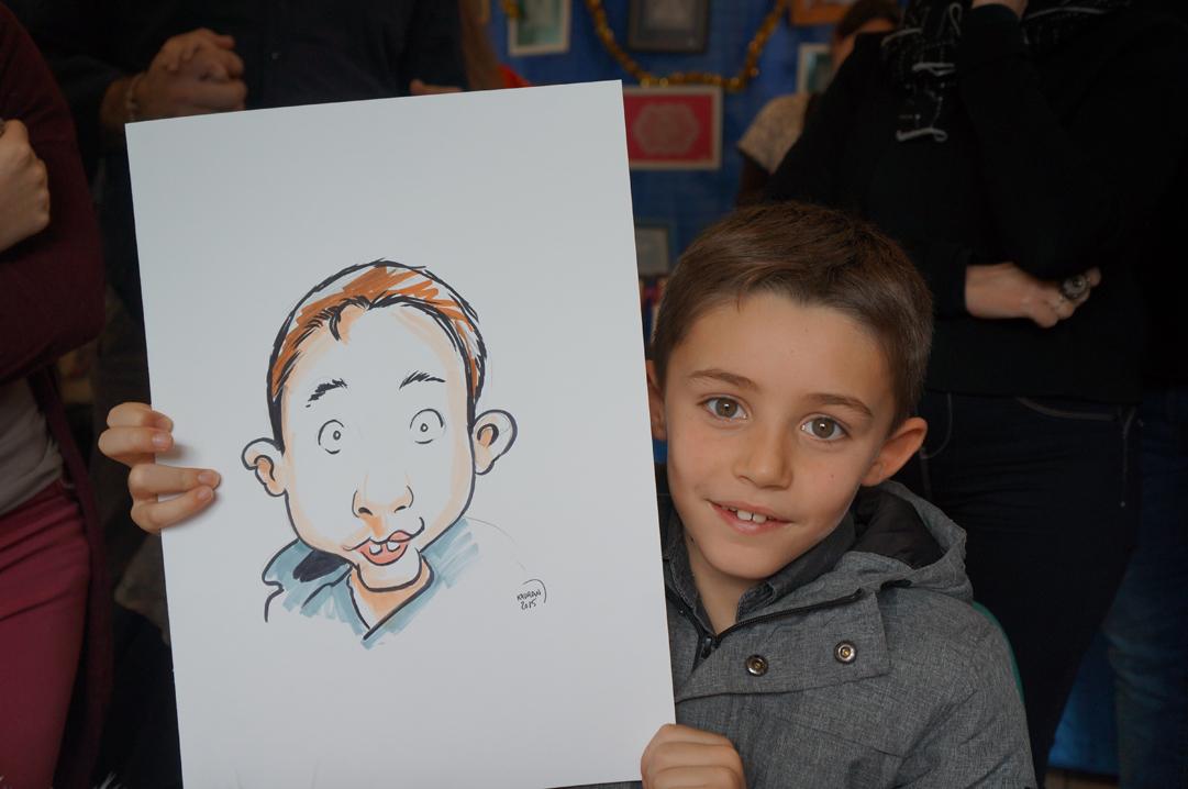 Marché De Noël Trangé en caricature