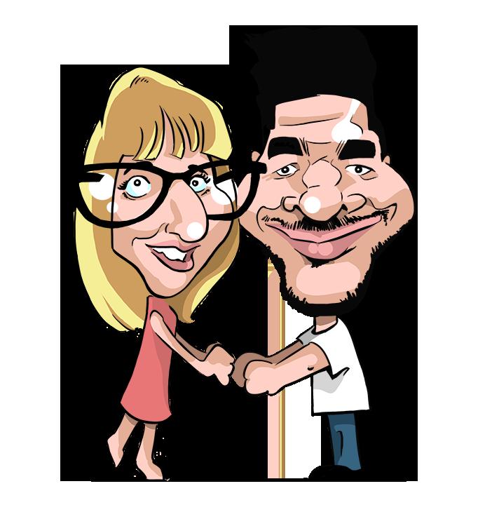 faire part de mariage en caricature kadran caricaturiste illustrateur graphiste. Black Bedroom Furniture Sets. Home Design Ideas