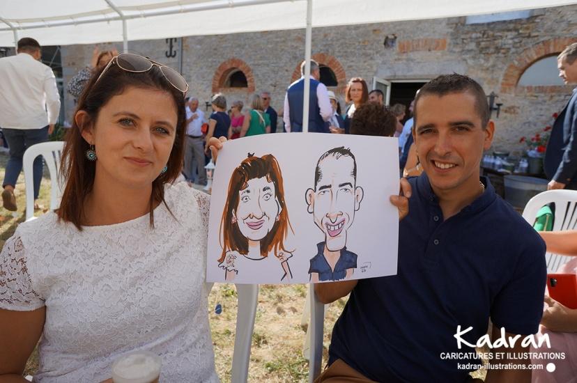 MARIAGE AURÉLIE ET SAMUEL EN CARICATURES TRADITIONNELLES